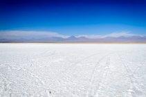 Vista panorâmica da tebenquinche Salinas, deserto de Atacama, Chile — Fotografia de Stock