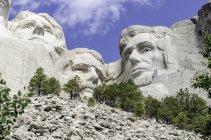 Vista del Monumento Nacional Mt Rushmore, Estados Unidos, Dakota del Sur, Monte Rushmore - foto de stock