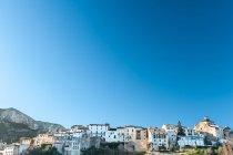 Scenic view of Townscape of Tivissa, Province of Tarragona, Catalonia, Spain — Stock Photo