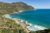 Elevated view of coastline, Cape Town, Western Cape,  South Africa — Stock Photo