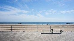 Vista panoramica della città di Brighton Beach, New York, New York State, Usa — Foto stock
