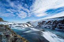Vue panoramique sur la cascade de Gullfoss, Islande — Photo de stock