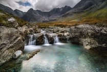 Sceic view of Fairy Pools, Isle of Skye, Scotland, UK — Stock Photo