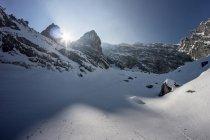 Мальовничий вид на снігу покриті гір Альп, Зальцбург, Австрія — стокове фото