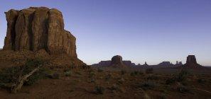 Scenic view of Monument Valley, Utah and Arizona border, USA — Stock Photo