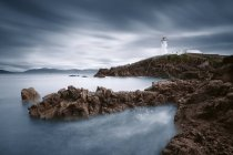 Ireland, Donegal, Fanad, dramatic view of lighthouse — Stock Photo