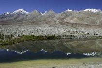 Mountain Reflections in Pangong Tso, Ladakh, India — Stock Photo