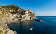 Vista panoramica su Manarola, Cinque Terre, Liguria, Italia — Foto stock