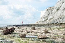 Beachy Head Lighthouse, Eastbourne, England, UK — Stock Photo