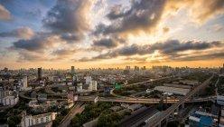 Мальовничий вид на Бангкок горизонт-дорожньої мережі, Таїланд — стокове фото