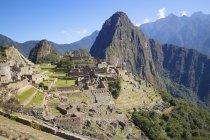 Живописный вид на величественные известных Мачу-Пикчу, Куско, Перу — стоковое фото
