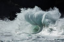 Malerische Aussicht auf schöne blaue Welle — Stockfoto