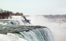 Scenic view of Niagara Falls in winter, Canada — Stock Photo