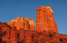Scenic view of Bride of Cathedral Rock, Sedona, Yavapai County, Arizona, USA — Stock Photo