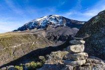 Vista panoramica del Monte Kilimanjaro da Karanga Camp, Tanzania — Foto stock