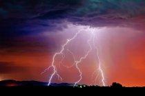 Vista panoramica della tempesta di fulmini, Arlington, Arizona, Stati Uniti — Foto stock