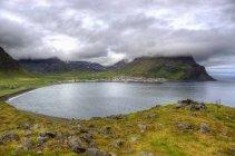 Мальовничим видом на затоку в Ісландії, Westfjords, Bolungarvik — стокове фото