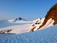 Scenic view of snow covered mountains, British Columbia, Canada — Stock Photo