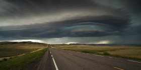 Scenic view of fascinating storm over a road — Stock Photo