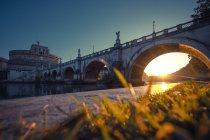Italy, Rome, Museo Nazionale di Castel Sant Angelo at sunrise — Foto stock