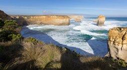 Malerischer Blick auf Felsformationen in der Nähe der großen Ozeanstraße, Victoria, Australien — Stockfoto