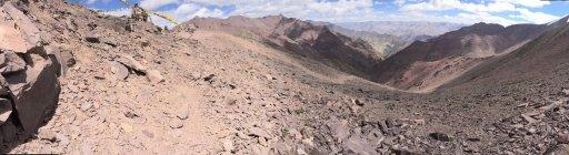 Scenic view of Kongmaru La high altitude pass, Ladakh, India — Stock Photo