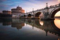 Scenic view of San Angelo Bridge, Rome, Italy — Stock Photo