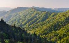 Malerische Aussicht auf Great Smoky Mountain, Bryson City, Tennessee, America, Usa — Stockfoto
