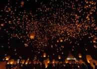 Scenic view of lantern festival at night, Chiang Mai, Thailand — Stock Photo