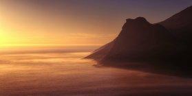 Afrique du Sud, la péninsule du Cap, coucher de soleil vue depuis Chapmans Peak — Photo de stock