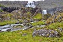 Vista panoramica della cascata Dynjandi, Arnarfjord, Islanda — Foto stock
