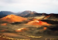 Majestic view of fascinating Fire Mountains,  Timanfaya, Lanzarote, Canary Islands, Spain — Stock Photo