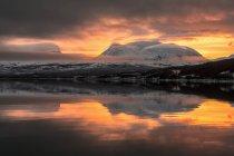 Арктичних вранці кольори над Lapporten, Norrland, Швеція — стокове фото