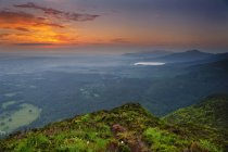 Scenic view of sunrise from Torc mountain,  Killarney, County Kerry, Ireland — Stock Photo