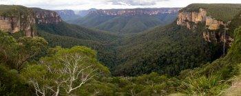 Панорамный вид на голубые горы, Новый Южный Уэльс, Австралия — стоковое фото