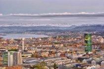 Malerische Aussicht auf die Skyline von Zürich, Schweiz — Stockfoto