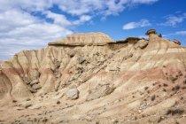 Живописный вид рок формирования в пустыне, бесплодные, Наварра, Испания — стоковое фото