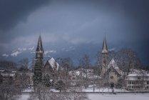 Scenic view of Interlaken in winter, Switzerland — Stock Photo
