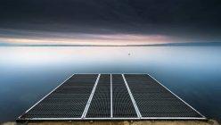 Pontoon by lake, Thonon-les-Bains, France — Stock Photo