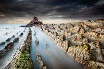 Vue panoramique sur le majestueux Atxabiribil beach, Sopela, Espagne — Photo de stock