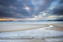 Scenic view of dramatic sunset over beach, Tasmania, Australia — Stock Photo