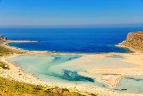 Vue panoramique de balos beach, Gramvoussa, Crète, Grèce — Photo de stock
