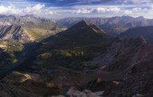Luftaufnahme des majestätischen Pyrenäen Bergen, Pailla Tal Gavarnie, Frankreich — Stockfoto