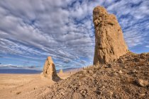 Scenic view of Trona Pinnacles National Natural Landmark, Mojave desert, California, USA — Stock Photo