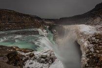 Vista panoramica della cascata di Gullfoss, Islanda — Foto stock