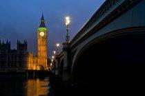 Scenic view of Big Ben at night, London, UK — Stock Photo