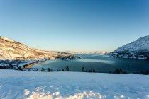 Норвегия, Финнмарк, альта, Kvenvik, живописный вид на пейзаж зимой — стоковое фото
