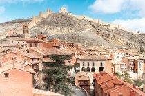 Іспанія Арагон провінції Теруель, Albarracin, середньовічне місто стіною — стокове фото