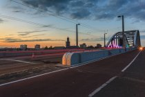 Holland, John Frost bridge and car traffic — Stock Photo