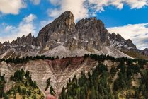 Vista panorámica de passo delle erbe, dolomitas, Italia - foto de stock